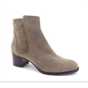 New AQUATALIA Taupe Textured Suede booties 7.5
